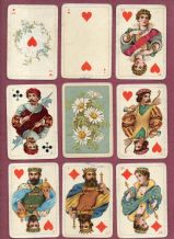 Antique   playing cards courts. by Dondorf,
